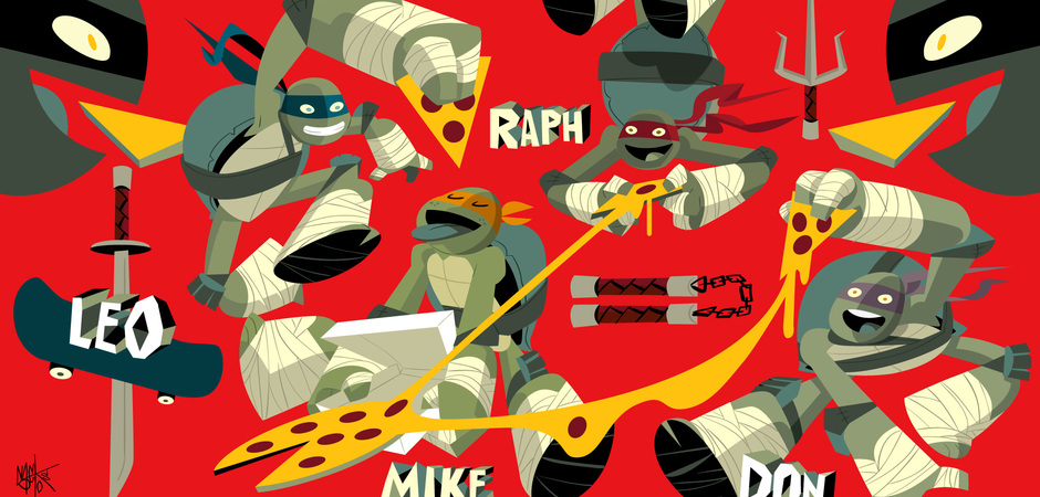 Nick tmnt poster red